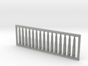 13x64 mm 1:6 scale  x15 in Metallic Plastic: 1:600