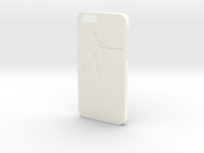 Iphone 6 Case - Name On The Back - Baseball2 in White Strong & Flexible Polished