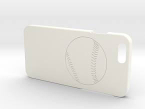 Iphone 6 Case - Name On The Back - Baseball1 in White Processed Versatile Plastic