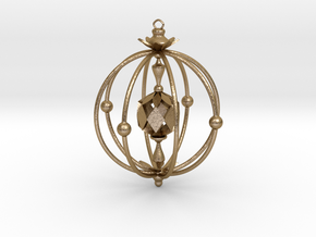A Peachy Ornament in Polished Gold Steel