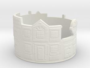 Estate Ring (size 4-13) in White Natural Versatile Plastic