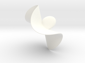 Henrici Cubic Surface in White Processed Versatile Plastic: Small
