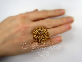 Ring The Thistle/ 14 HK size / 7 US (17.7 mm) in 14k Gold Plated