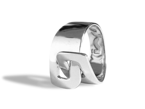 LOOP ring in Polished Silver: 8 / 56.75