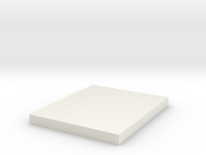 10x12x1cm Block Solid in White Strong & Flexible