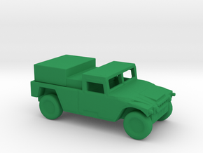 1/200 Scale HUMVEE Generator in Green Strong & Flexible Polished