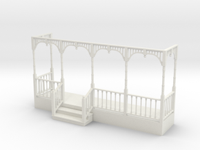 Miniature 1:48 Victorian Front Porch in White Strong & Flexible