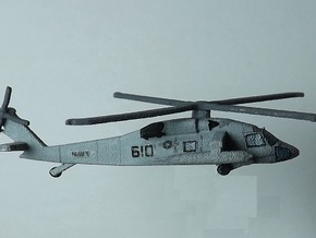 1/285 (6mm) UH-60 Blackhawk v.2 in White Natural Versatile Plastic