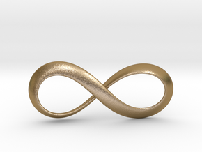 Moebius Infinity Symbol in Polished Gold Steel