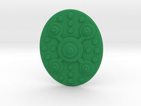 TEWOJ Barbarian Shield. in Green Strong & Flexible Polished