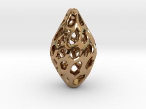HONEYBIT Twist Pendant in Polished Brass