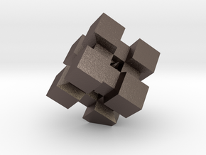 WeightCube Paperweight in Polished Bronzed Silver Steel