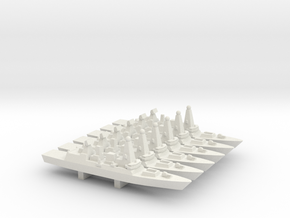 Type 45 DDG x 6, 1/3000 in White Natural Versatile Plastic