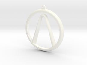 Borderlands Logo in White Strong & Flexible Polished