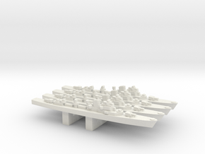Oland-class destroyer x 4, 1/3000 in White Natural Versatile Plastic