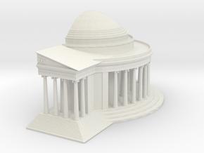 Jefferson Memorial Model 1 Half Small in White Natural Versatile Plastic