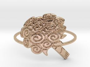 Flat Bouquet Of Roses (Size 4-13) in 14k Rose Gold: 8 / 56.75