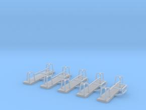 Astabweiser für Unimog RW1 Hamburg - 5 Stück 1/87 in Smoothest Fine Detail Plastic