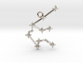 The Constellation Collection - Aquarius in Rhodium Plated Brass