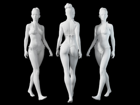 1:24 1:10 Bikini Girl 018 in White Natural Versatile Plastic: 1:10