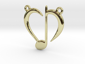 Love Music in 18k Gold Plated Brass