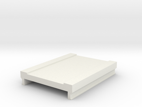 60mm Bridge Deck in White Natural Versatile Plastic
