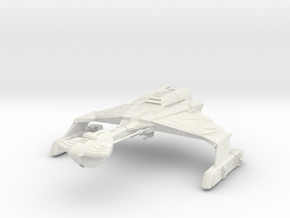"Dtinga Class  BattleCruiser  2.2"" in White Strong & Flexible: Extra Small"