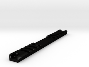 Am-013/014 Custom Rail, Blank, Short in Matte Black Steel