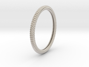 SCALES BANGLE 2.5in ID in Rhodium Plated Brass