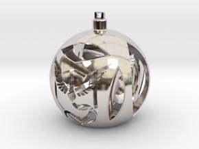 Team Mystic Christmas Ornament Ball in Platinum