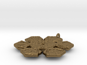 Snowflake Pendant/Earring - Style C in Natural Bronze