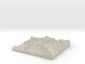 Model of Mount Helen in Natural Sandstone
