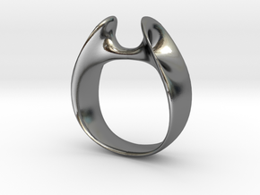 Wormhole Ring Size 7 in Polished Silver