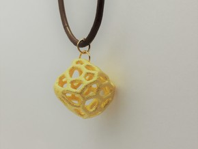 Coral Rock in Polished Gold Steel: Small