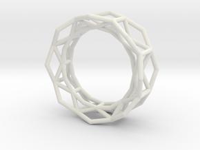 Hexagon - S in White Natural Versatile Plastic