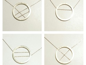 WIYW Circle Pendant in Raw Brass