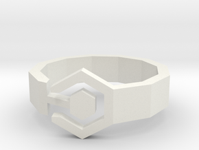 Bague Meandres in White Natural Versatile Plastic: Extra Small