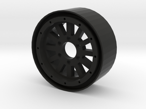 "1.9"" 12 Spoke beadlock wheel in Black Strong & Flexible"