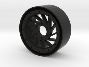 "1.9"" Hurricane beadlock wheel Right twist in Black Natural Versatile Plastic"