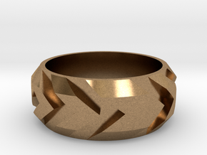 Arrow Ring in Natural Brass