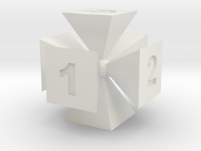 Die | Six sided in White Natural Versatile Plastic