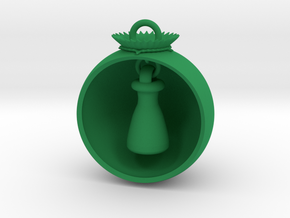 Christmas Ball Erlenmeyer in Green Processed Versatile Plastic