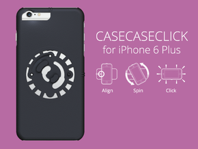 for iPhone 6 Plus : smooth : CASECASE CLICK  in Black Natural Versatile Plastic