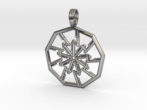 VORTEX PIPELINE in Fine Detail Polished Silver