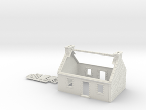 HOvMb02 - Brittany village in White Natural Versatile Plastic