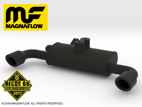 MF10001 Twin Exhaust NYLON in Black Natural Versatile Plastic