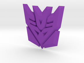 Decepticon Logo Supports in Purple Strong & Flexible Polished