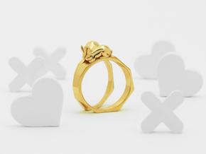 Together Apart Ring in Polished Bronze: 4 / 46.5