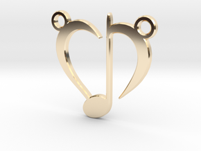 Love Music in 14k Gold Plated Brass