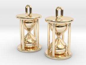 Hourglass Earrings in 14k Gold Plated Brass
